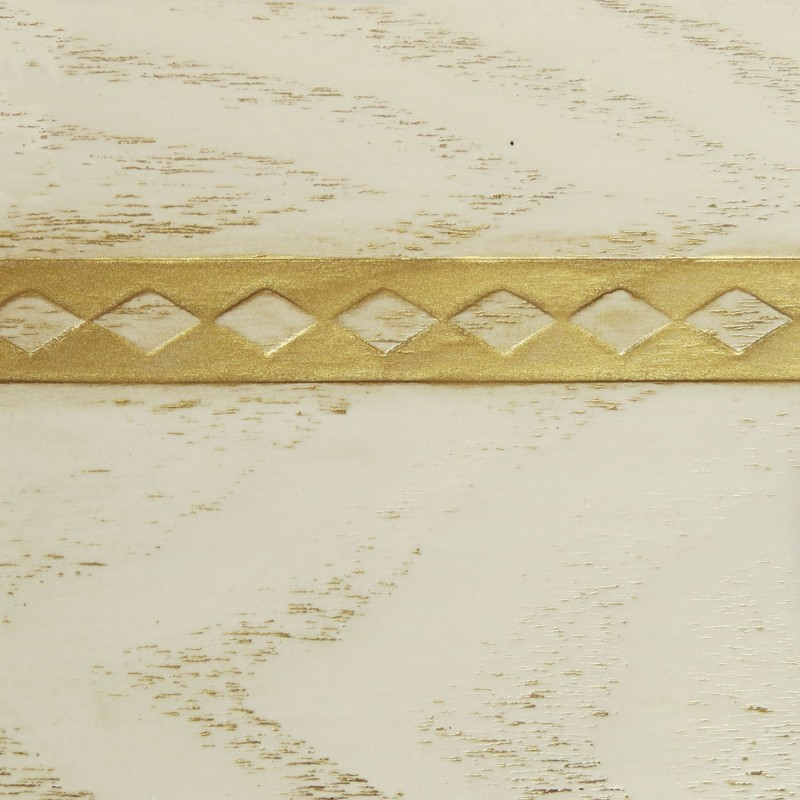 030 Эмаль Белый (фактурный шпон) Патина золото