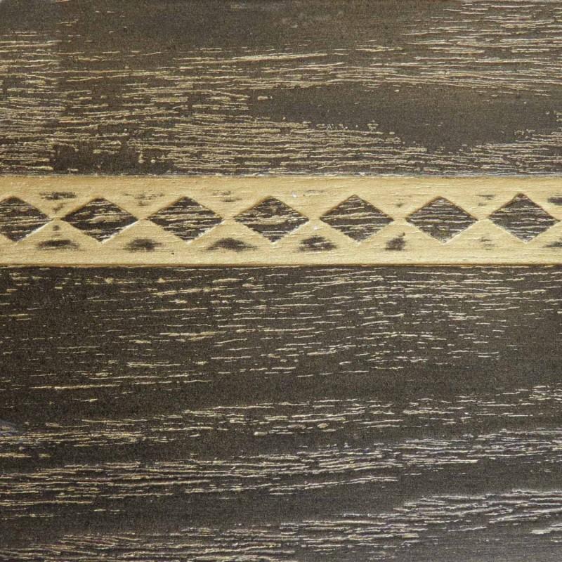 046 Эмаль Черный (фактурный шпон) Патина золото