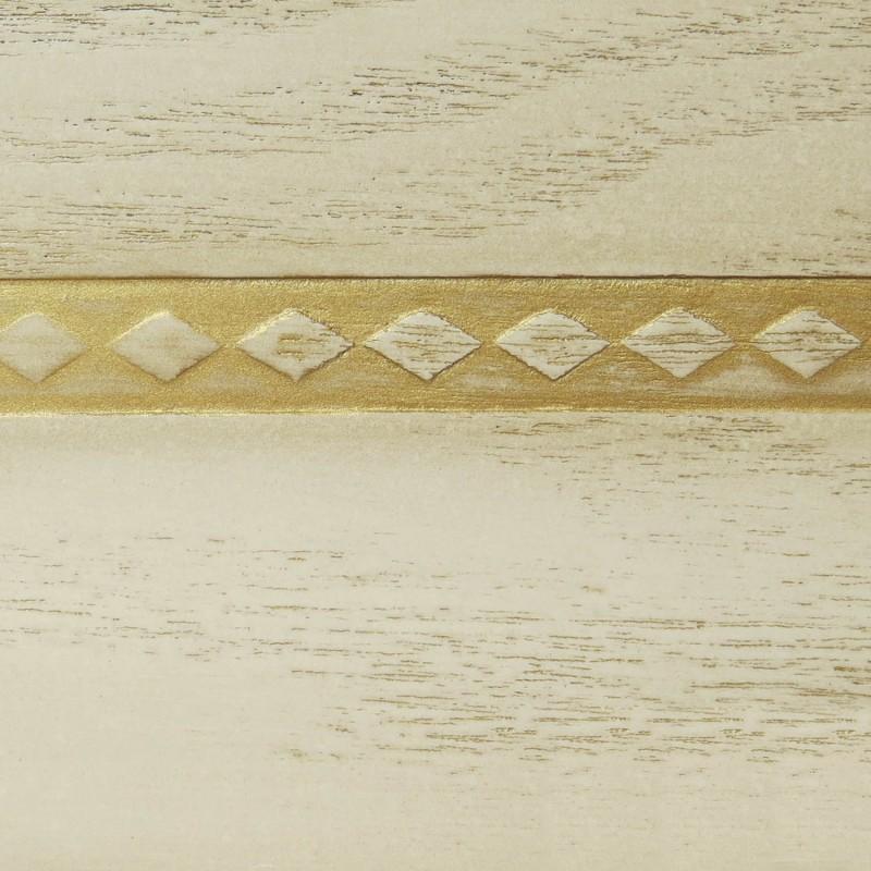 038 Эмаль Кремовый (фактурный шпон) Патина золото