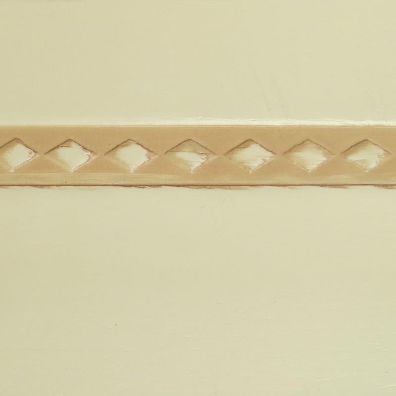 045 Эмаль Слоновая кость (гладкий шпон) Патина корич