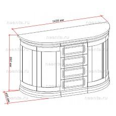 Комод малый с глухими дверями МКС 138-20 БЯ