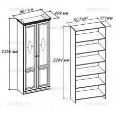 Шкаф для книг 2х дверный МКС 168-89 БЯ
