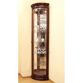 Витрина-шкаф угловая МКС 164-50 с2 с зеркалами ОМТ