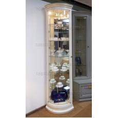 Витрина-шкаф угловая МКС 164-50 с2 с зеркалами БЯ