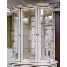 Надстройка трехдверная на комод МКС 124-10 с2 БЯ с боковыми зеркалами