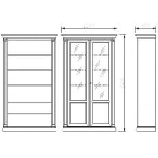 Шкаф книжный 2-дверный 950/С
