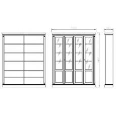 Шкаф книжный 4-дверный 970/С