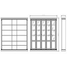 Шкаф книжный 5-дверный 980/С