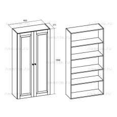 Шкаф для белья двухдверный МКС 144-19 ОМТ