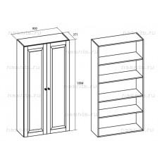 Шкаф для белья двухдверный МКС 144-19 БЯ