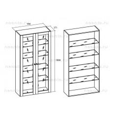 Шкаф посуды двухстворчатый МКС 144-20 БЯ