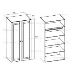 Шкаф платяной двухдверный МКС 144-03 БЯ