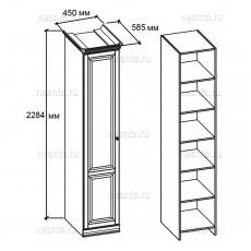 Шкаф бельевой однодверный МКС 168-80 (правый), МКС 168-80 с1 (левый) БЯ