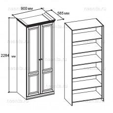 Шкаф бельевой двухдверный МКС 168-83 БЯ
