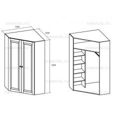 Шкаф угловой МКС 144-43 БЯ