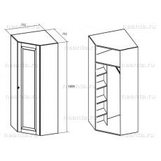 Шкаф угловой МКС 144-44 БЯ