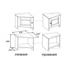 Тумба завершающая левая МКС 119-13/1, правая МКС 119-14/1 БЯ