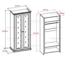 Шкаф двухдверный 168-72 с1 НН