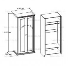Шкаф двухдверный МКС 168-59 с1 БЯ