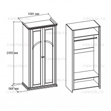 Шкаф двухдверный МКС 168-59 с1 НН