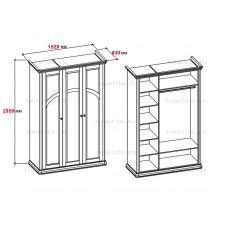 Шкаф трехдверный МКС 168-60 с1 БЯ