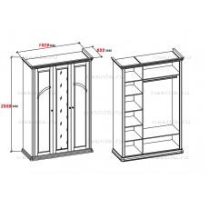 Шкаф трехдверный МКС 168-60 с2 БЯ
