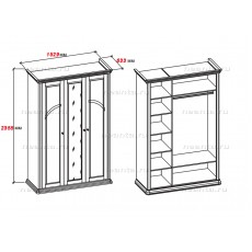 Шкаф трехдверный МКС 168-60 с2 НН