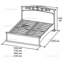 Кровать КР-3 (с низким изножьем) БЯ