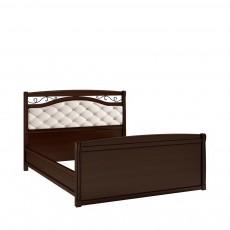Кровать КР-7 +вставка (с кованым элементом по углам с изножьем) НН