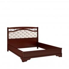 Кровать КР-7 +вставка (с кованым элементом по углам без изножья) ОМТ